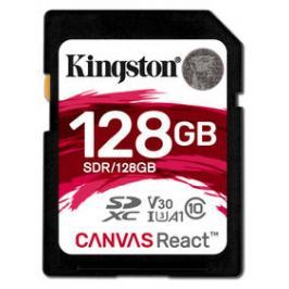 Kingston Canvas React SDXC 128GB UHS-I U3 (100R/80W) (SDR/128GB)