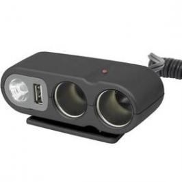 Carpoint 12V - s USB výstupem / kabelem / osvitem