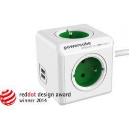 Powercube Extended USB, 4x zásuvka, 2x USB, 1,5m zelená