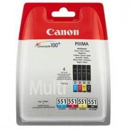 Canon CLI-551, 4x 7ml - originální (6509B009) černá/červená/modrá/žlutá