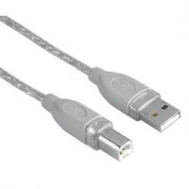 Hama USB / USB-B, 5m (45023) šedý