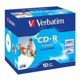 Verbatim Printable CD-R DLP 700MB/80min. 52x, jewel box, 10ks (43325)