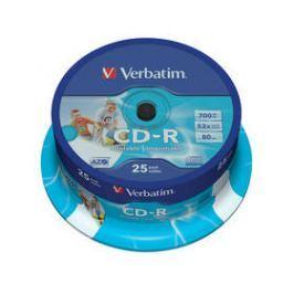 Verbatim Printable CD-R DLP 700MB/80min, 52x, 25-cake (43439)