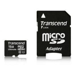Transcend MicroSDHC 16GB UHS-I U1 (90MB/s) + adapter (TS16GUSDHC10U1)