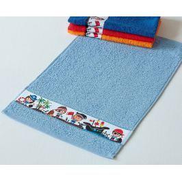 Dětský ručník Rujana Piráti světle modrý 30x50 cm bavlna