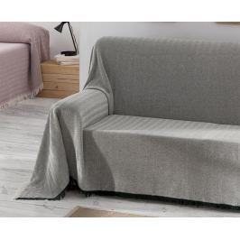Přehoz Aitana šedý 180x270 cm šedá