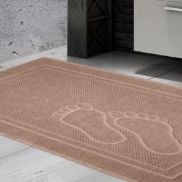 Koupelnová předložka Feet béžová 50x70 cm bavlna