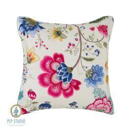 Čtvercový polštář Pip Studio Floral Fantasy ecru 45x45 cm barevná