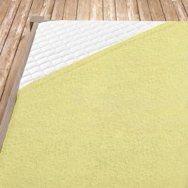 Napínací froté prostěradlo světle žluté Jednolůžko Bavlna - froté