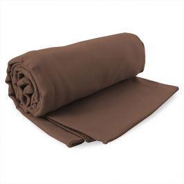 Rychleschnoucí ručník Ekea hnědý 60x120 cm hnědá