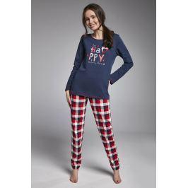 Dívčí pyžamo Cornette Happy Girl  modročervená