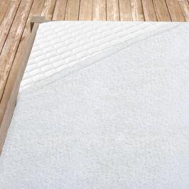 Bílé bambusové prostěradlo Jednolůžko Bambus - froté