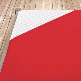 Napínací jersey prostěradlo červené Jednolůžko Bavlna - jersey