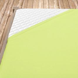 Napínací jersey prostěradlo světle zelené Dvoulůžko Bavlna - jersey