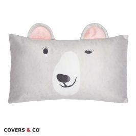Dekorační polštářek Yuki 30x50 cm šedá