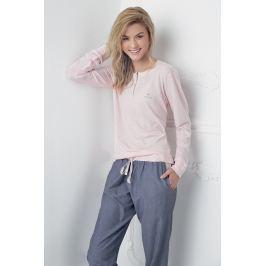 Dámské pyžamo Alice růžovo-modré  růžovošedá
