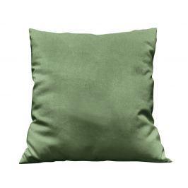 Povlak na polštářek Uni tmavě zelený 40x40 cm Bavlněný satén