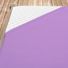 Flanelové prostěradlo fialové Jednolůžko Bavlna - flanel