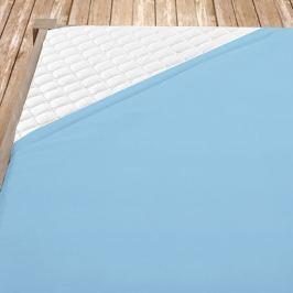 Flanelové prostěradlo světle modré Jednolůžko Bavlna - flanel