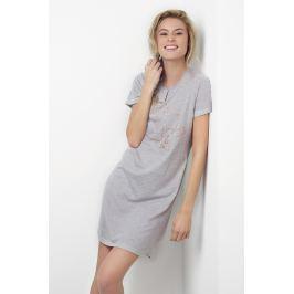 Dámská noční košile Tea Shirt  růžovo-šedá  šedá