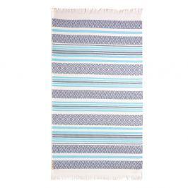 Lehká plážová osuška Cabanas 95x180 cm modrá