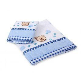 Dětský ručník Bear modrý 30x50 cm Ručník malý