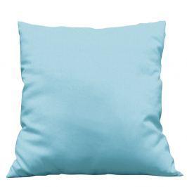 Povlak na dekorační polštářek Uni modrý 40x40 cm Bavlněný satén