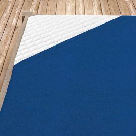 Napínací froté prostěradlo tmavě modré Jednolůžko Bavlna - froté