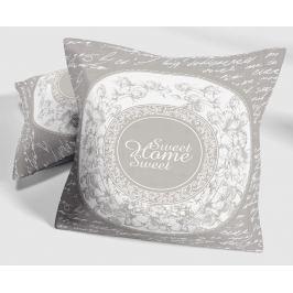 Dekorační polštářek Sweet Home 40x40 cm šedá