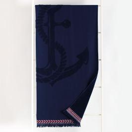 Plážová osuška Noemi modrá 90x170 cm modrá