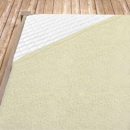Krémové bambusové prostěradlo Jednolůžko Bambus - froté