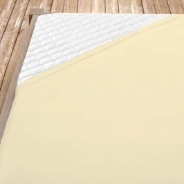 Flanelové prostěradlo krémové Jednolůžko Bavlna - flanel