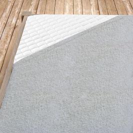 Napínací froté prostěradlo šedé Jednolůžko Bavlna - froté