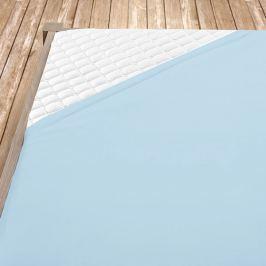 Napínací jersey prostěradlo světle modré dětská postýlka Bavlna - jersey