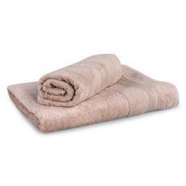 Set 2 bambusových ručníků Moreno - béžový Set Dvoudílný set