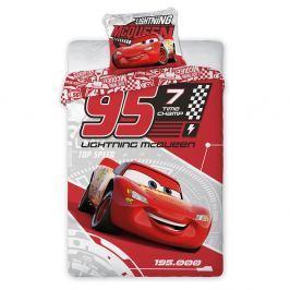 Povlečení Cars červené 140x200 jednolůžko - standard bavlna