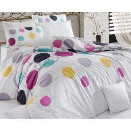 Povlečení Points Lila 140x200 jednolůžko - standard bavlna