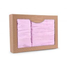 Dárková sada ručníků Moreno lila Set Dvoudílný set