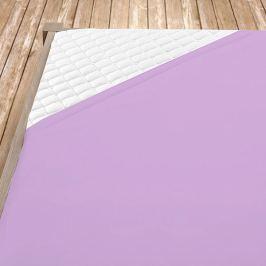 Napínací jersey prostěradlo fialové Dvoulůžko Bavlna - jersey