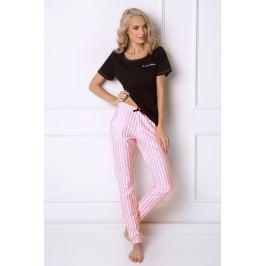Dámské pyžamo Royal  černá/růžová
