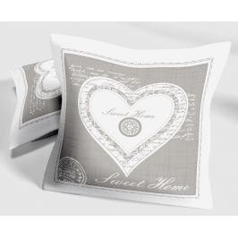Dekorační polštář Sweet heart 40x40 cm šedá