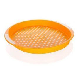 BANQUET Tác protiskluzový plastový prům. 40 x 4 cm, oranžový