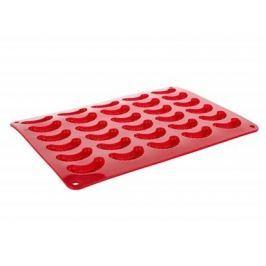 BANQUET Forma na rohlíčky silikonová CULINARIA 35x25x1,3 cm, červená