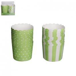 Košík cukrářský papírový GREEN 7 cm 20 ks