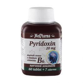 MedPharma Pyridoxin 20 mg – doplněk stravy s obsahem vitamínu B6 60 tbl. + 7 tbl. ZDARMA