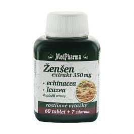 MedPharma Ženšen 350 mg + echinacea + leuzea 60 tbl. + 7 tbl. ZDARMA