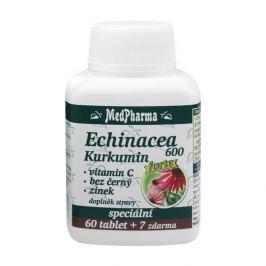 MedPharma Echinacea 600 Forte + kurkumin + vitamín C + bez černý + zinek 60 tbl. + 7 tbl. ZDARMA