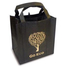 Kappus Nákupní taška GO ECO 4 barevné motivy tmavě hnědá