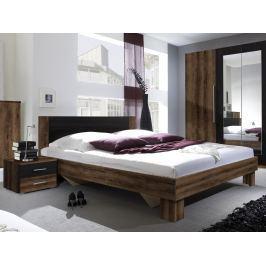 Manželská postel 180 cm Verwood Typ 52 (monastery + černá) (s noč. stolky)