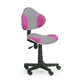 Dětská židle FLASH 2 šedá + růžová